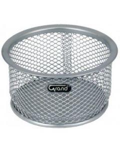 Pojemnik na spinacze srebrny metalowy GRAND 120-1120