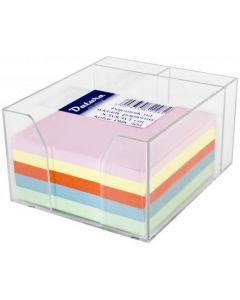 Kostka nieklejona pojemnik DATURA/NATUNA 85x85x50 kolorowa