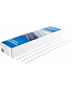 Grzbiet do bindowania DATURA/NATUNA 8mm (100szt) biały