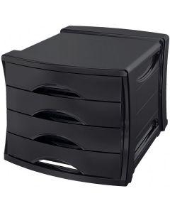 Pojemnik z 4 szufladami EUROPOST VIVIDA czarny ESSELTE 623761