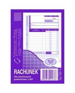 232-5 Rachunek A6 (pion) ory.+kop. 80k Michalczyk i Prokop
