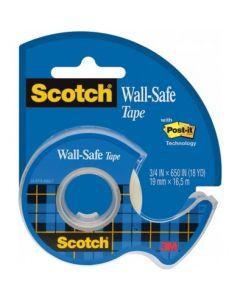 Taśma klejąca Wall-Safe bezpieczna dla ścian, podajnik, 19mmx16,5m Scotch