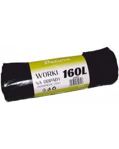 Worki na śmieci DATURA/NATUNA 160L ekonomiczny (20szt) 25mic LDPE