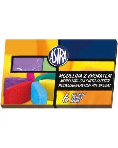 Modelina z brokatem 6 kolorów 304109001 ASTRA
