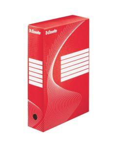 Pudełka archiwizacyjne ESSELTE BOXY 80mm czerwone 128412