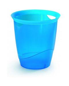 Kosz na śmieci 16l niebieski przezroczysty DURABLE 1701710540