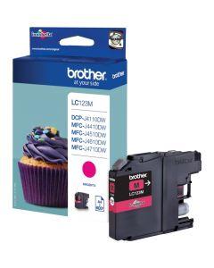 Tusz BROTHER (LC123M) purpurowy 600str
