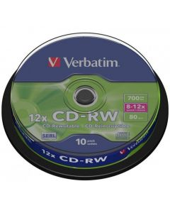 Płyta CD-RW VERBATIM CAKE(10) 700MB x12 43480