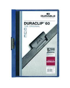 Skoroszyt zaciskowy A4 1-60k granatowy DURACLIP Original 220907 DURABLE