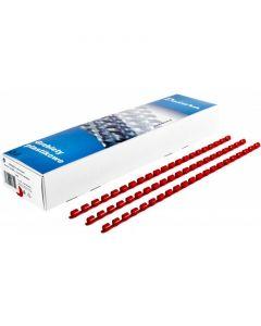 Grzbiet do bindowania DATURA/NATUNA 16mm (100szt) czerwony