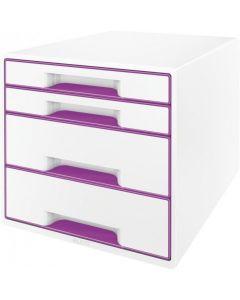 Pojemnik z 4 szufladami LEITZ WOW fioletowy 52132062