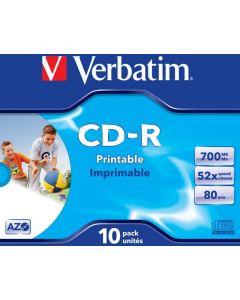 Płyta CD-R VERBATIM JC do nadruku DataLife+AZO 700MB x52 43325