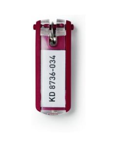 Zawieszki do kluczy (6szt.) czerwone 1957-03 DURABLE KEY CLIP
