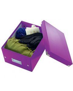 Pudełko LEITZ Click & Store A5 fioletowe 60430062