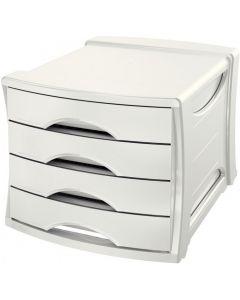 Pojemnik z 4 szufladami EUROPOST VIVIDA biały ESSELTE 623959