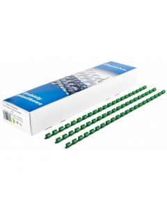 Grzbiet do bindowania DATURA/NATUNA 16mm (100szt) zielony