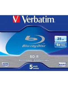 Płyta BD-R VERBATIM BluRay 25GB jewel case 6x Scratchguard Plus 43715
