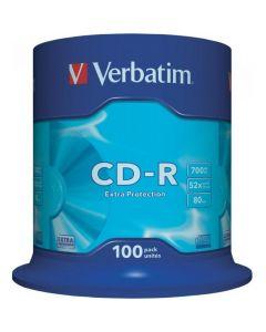 Płyta CD-R VERBATIM CAKE(100) Extra Protection 700MB x52 43411