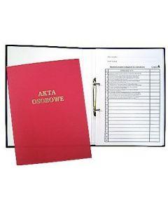 Teczka do akt osobowych z zamkiem czerwona zadruk.1824-339-062 WARTA