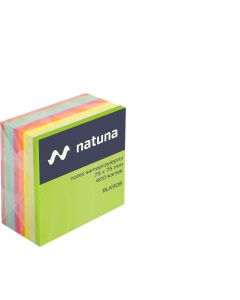 Kostka samoprzylepna DATURA/NATUNA 75x75 400 kartek tęczowa (NSKT/D)