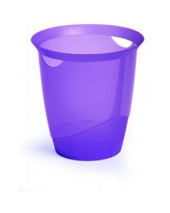 Kosz na śmieci 16l fioletowy przezroczysty DURABLE 1701710992