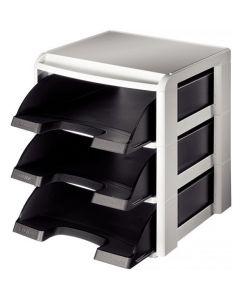 Moduł na trzy półki LEITZ Plus czarna LEITZ 53270095
