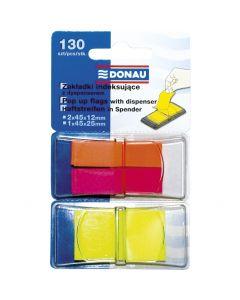 Zakładki indeksujące PP mix kolorów 12x40mm/25x45mm, 2x40/1x50 kart 7559001-99 DONAU