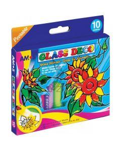 Farby witrażowe AMOS gd10p10 - 10.5mlx10 kolorów 170-1692