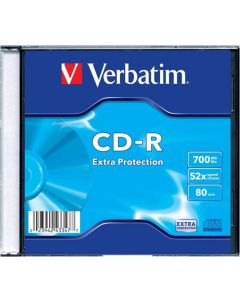 Płyta CD-R VERBATIM SLIM 700MB x52 Extra Protection 43347