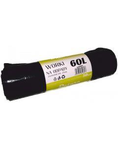 Worki na śmieci DATURA/NATUNA 60L ekonomiczny (50szt) 25mic LDPE