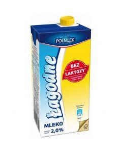 Mleko POLMLEK UHT ŁAGODNE bez laktozy 2% 1l