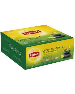 Herbata LIPTON Green Tea Citrus (100 kopert fol.) zielona