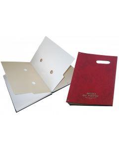Teczki do podpisu 20k z okienkiem (bordo) WARTA 1824-920-034