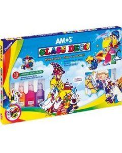 Farby witrażowe AMOS GD22P13 - 22mlx13 kolorów 170-1050