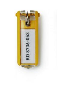 Zawieszki do kluczy (6szt.) żółte 1957-04 DURABLE KEY CLIP