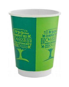 Kubki papierowe dwuwarstwowe GREEN TREE 250ml(25szt)VDW-08-GT 100% bio