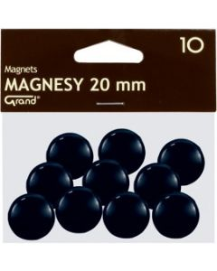 Magnesy 20mm czarne(10) 130-1687 GRAND