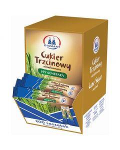 Cukier DIAMANT trzcinowy w saszetkach 200szt