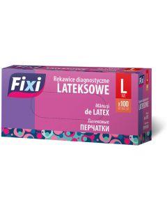 """Rękawice diagnostyczne """"L""""(100szt)LATEX FIXI R-2474"""