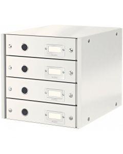 Pojemnik z 4 szufladami LEITZ C&S biały 60490001
